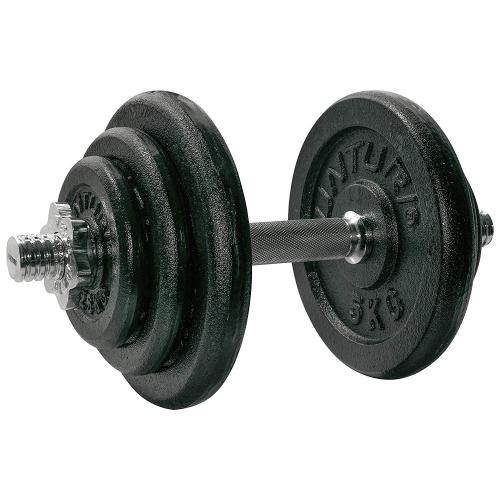 Jednoruční nakládací činka TUNTURI 20 kg složení