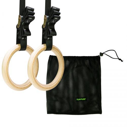 Gymnastické kruhy dřevěné TUNTURI Wooden Gym Ring