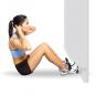 Opěrka nohou pod dveře na cvičení břicha TUNTURI žena