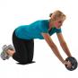 Posilovací kolečko na břicho TUNTURI s podložkou pod kolena workout