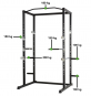 TUNTURI WT60 Cross Fit Rack nosnosti