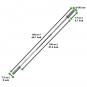 Tunturi Olympic Junior Bar 50 mm rozměry